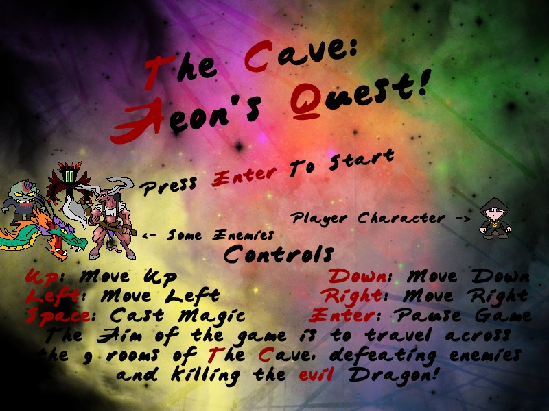 The Cave: Aeon&#8217;s Quest (Graphics Programming Coursework)